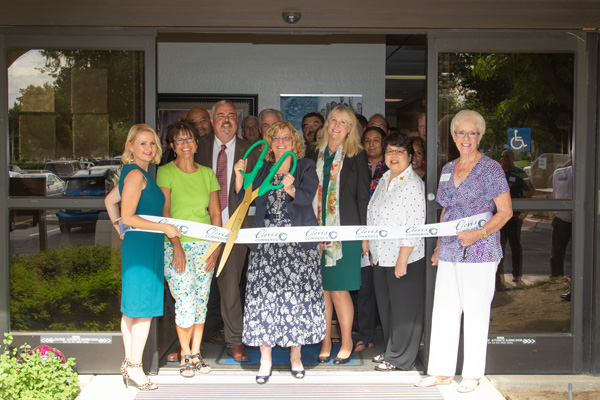 Ribbon cutting of the SBDC