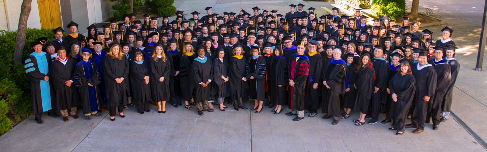 faculty at 2017 commencement