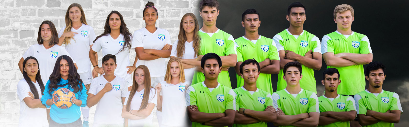 collage of boys and girls team photos