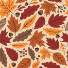 fall leaves patterned graphic