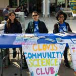 students from Science Club at Club Rush event