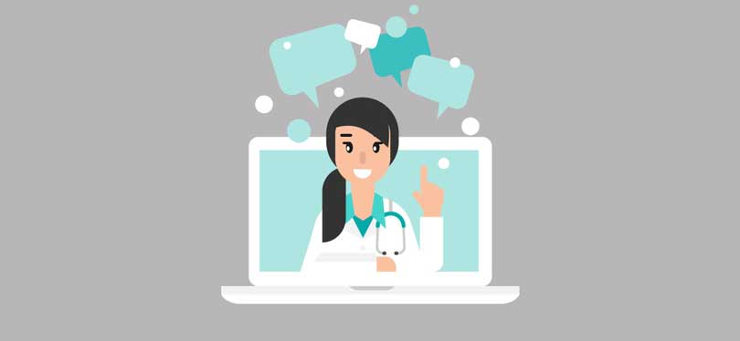 icon depicting health services online
