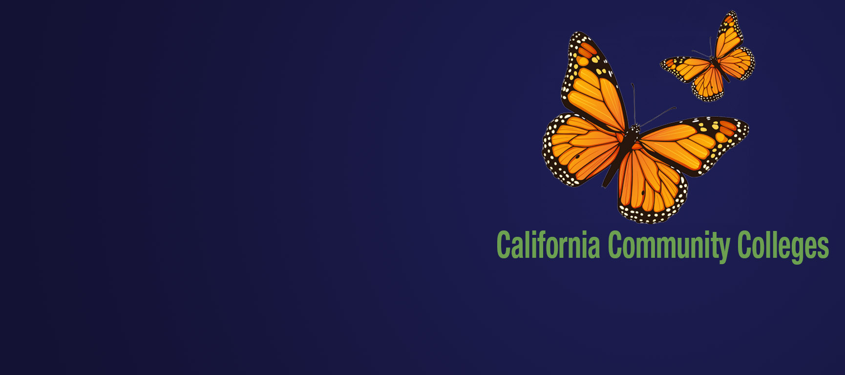 Large butterfly representing California Community Colleges' Undocumented Student Action Week
