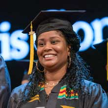 African American female student graduating from Clovis Community College