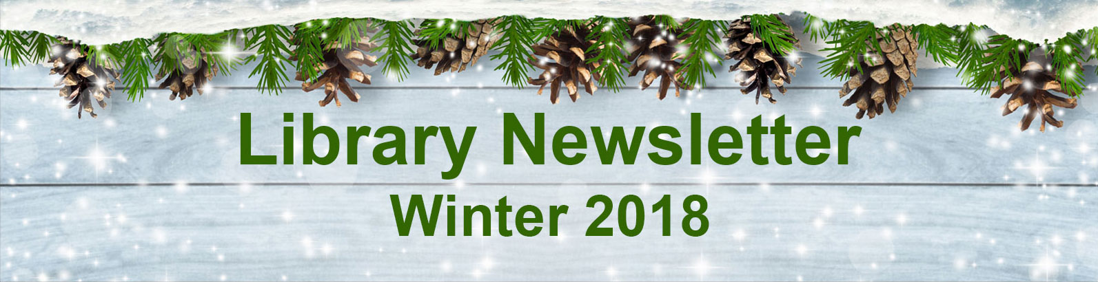 2018 Winter Newsletter banner