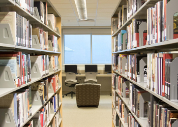 CCC Library bookshelves